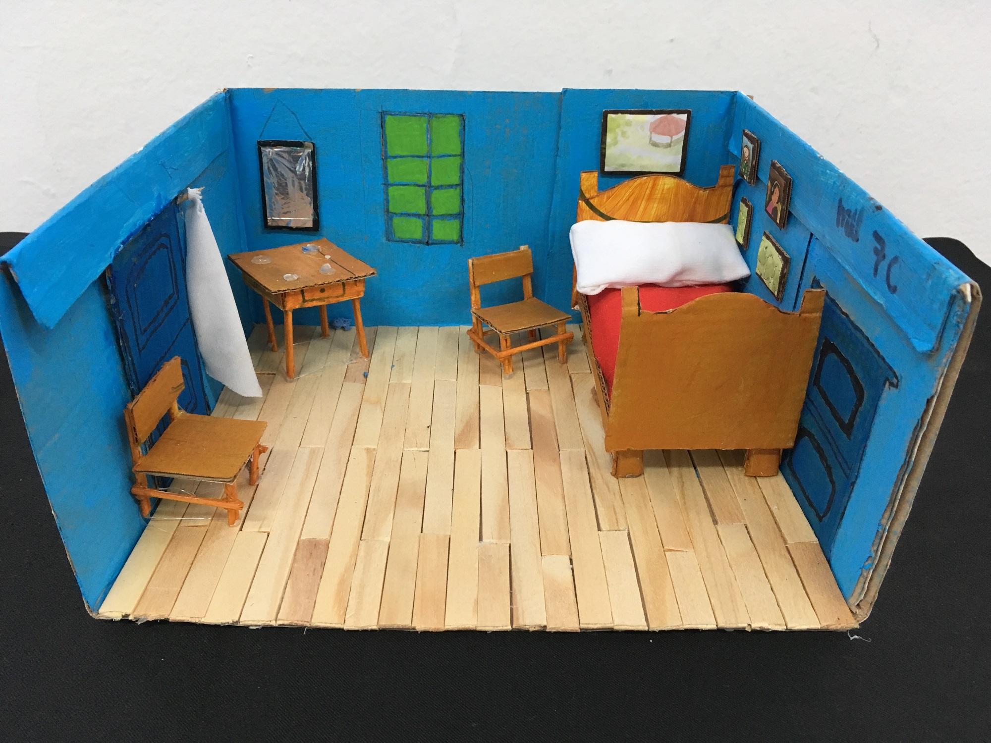"""Réplica de Vincent Van Gogh, obra """"O quarto de Arles"""" (3 ..."""