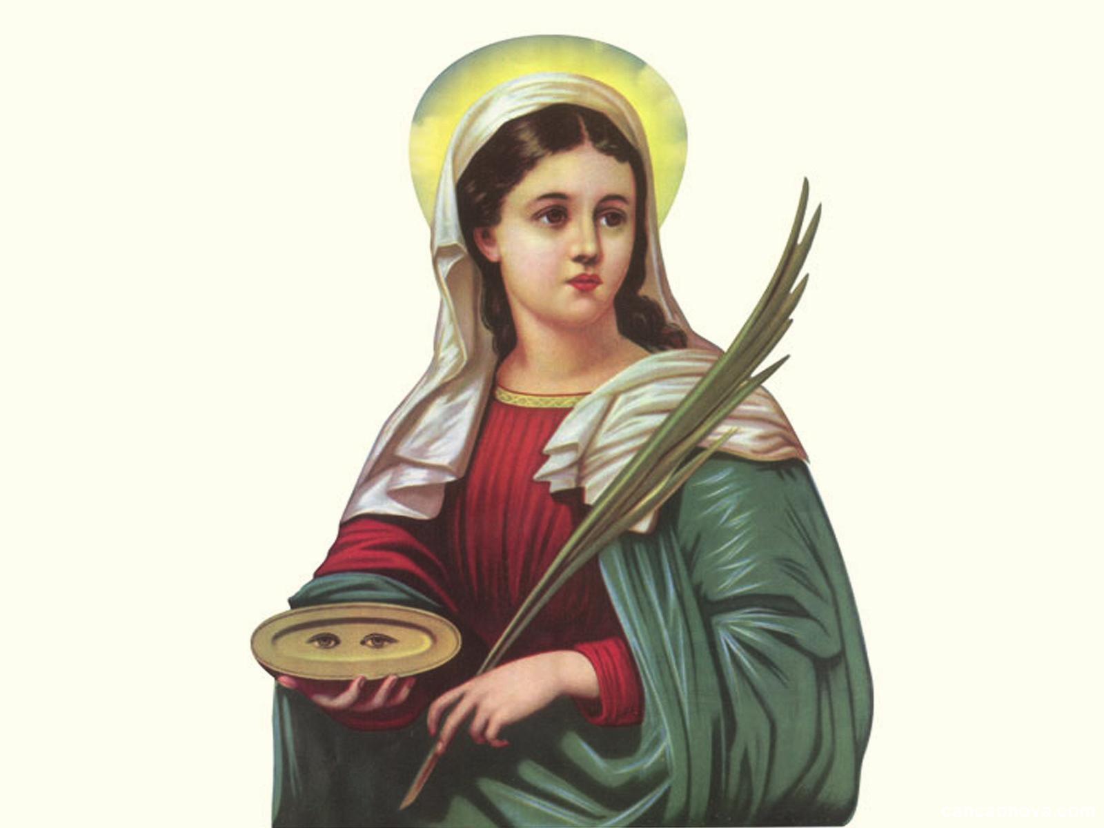 Rezemos a oração a Santa Luzia, protetora dos olhos