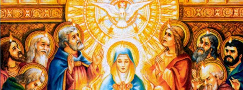Nossa Senhora e o Espírito Santo
