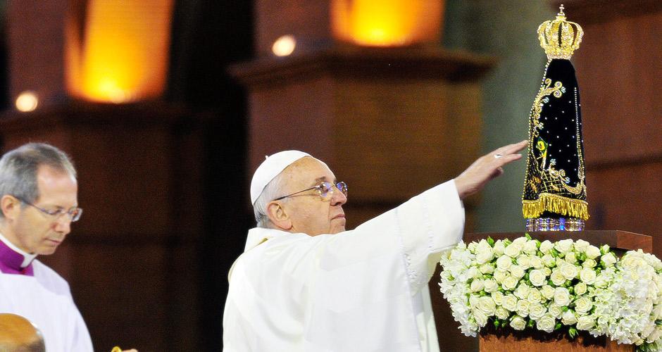 Papa Francisco e a devoção a Nossa Senhora Aparecida