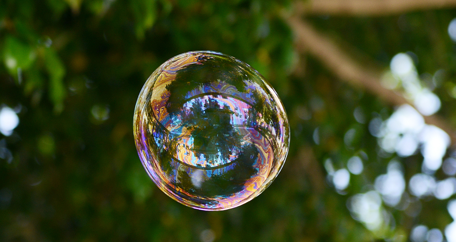 Você é uma bolha de sabão
