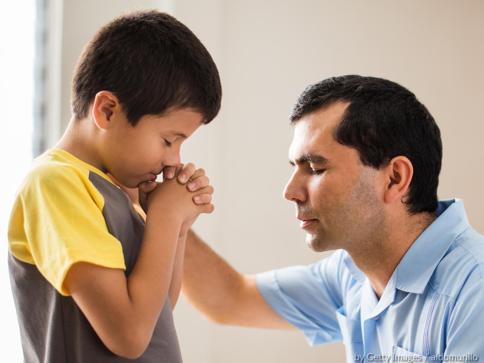 Quando é que o pai deve parar para rezar?