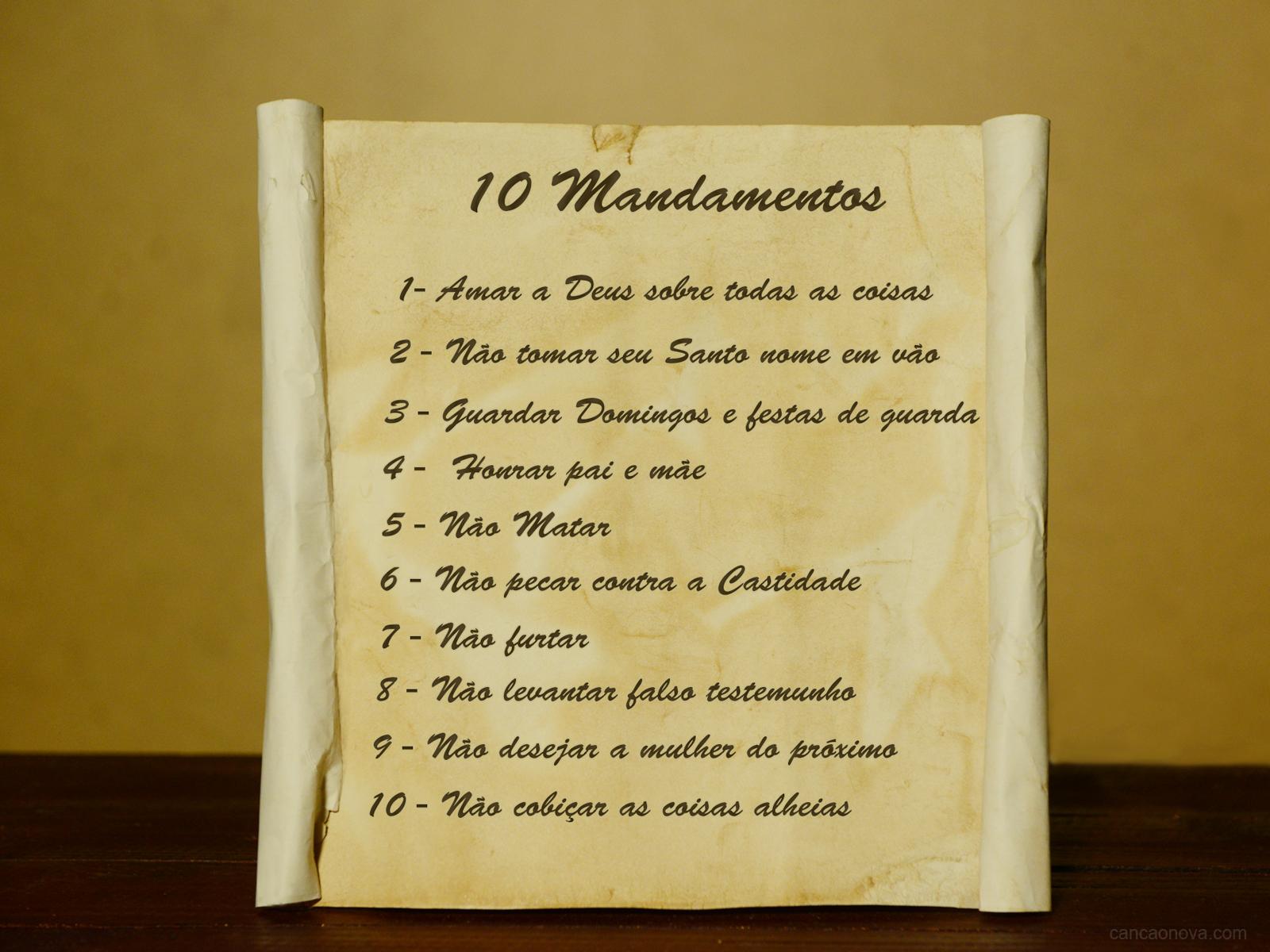 Os dez mandamentos em perguntas simples e diretas
