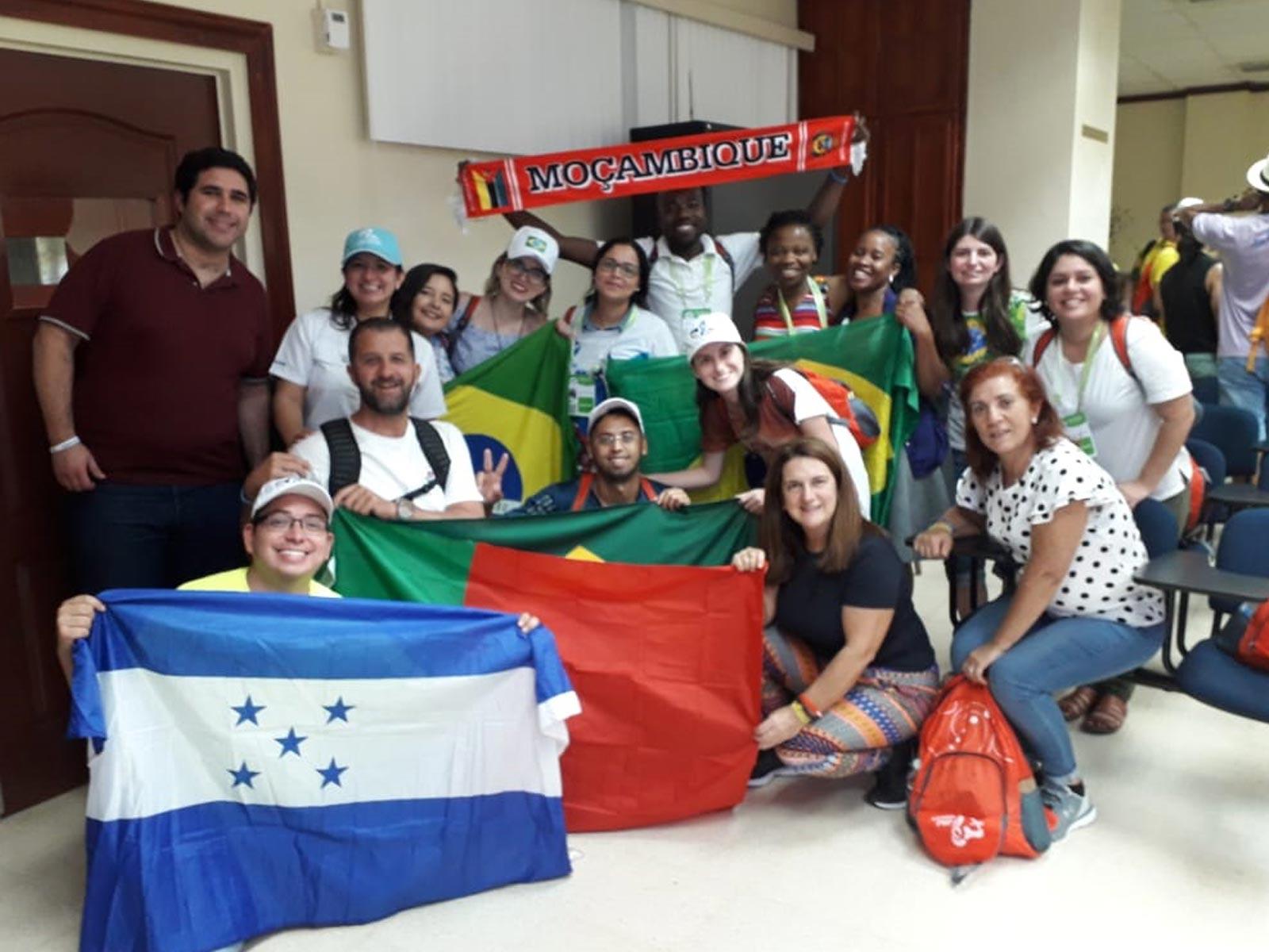 Vinicius durante a Jornada Mundial da Juventude no Panamá