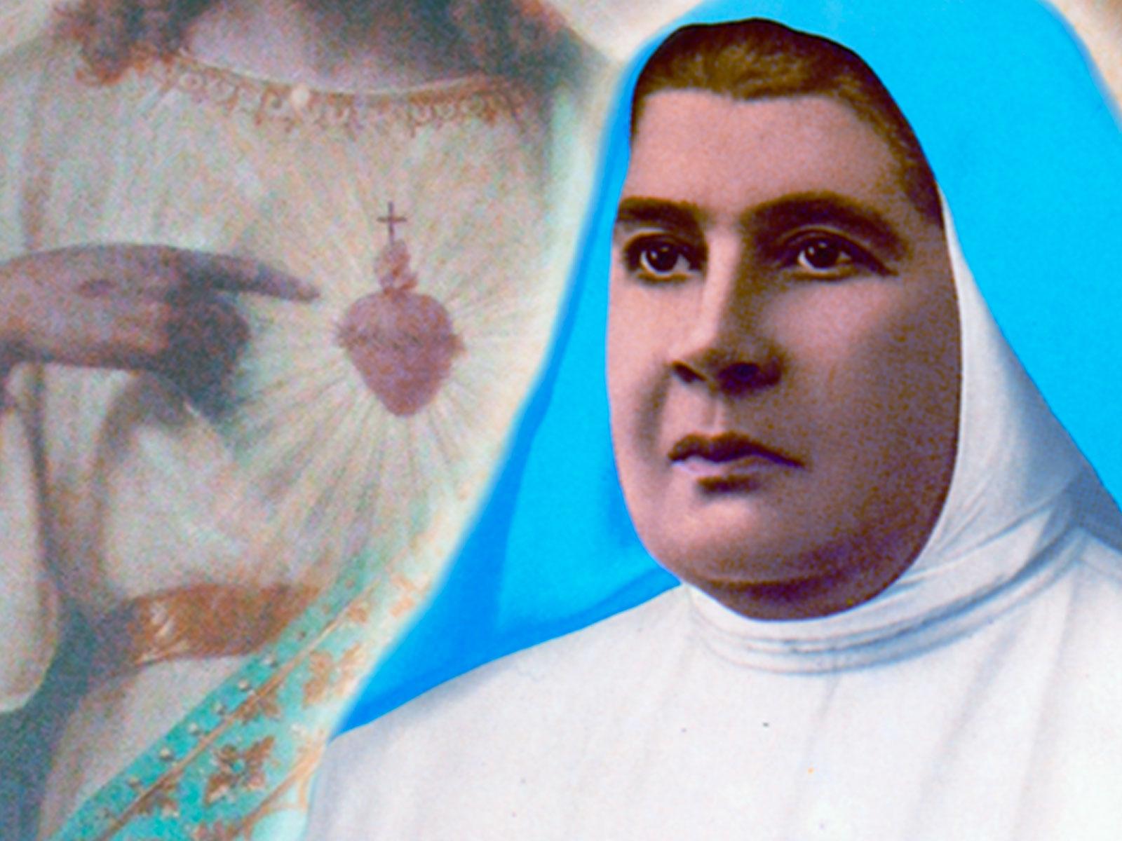 Madre Carmela e Madre Clélia, devotas do Sagrado Coração
