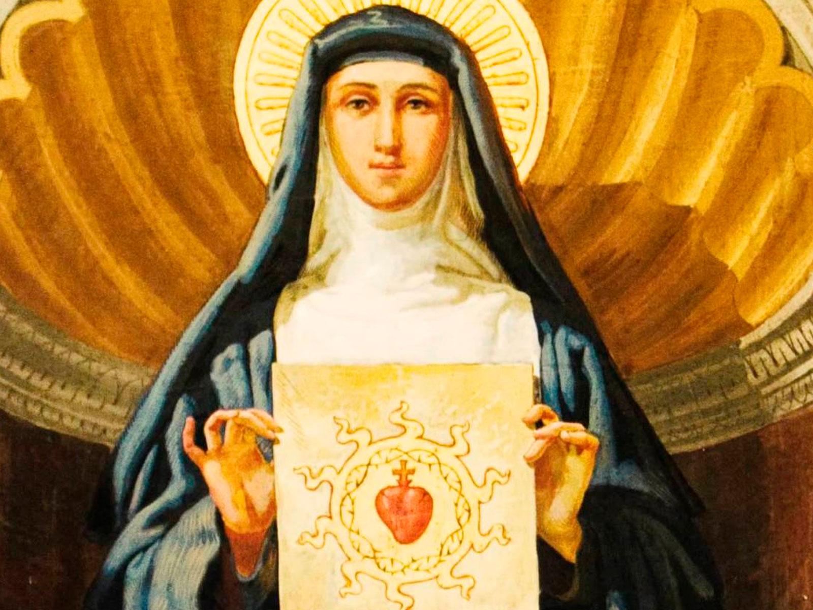 Santa Margarida, difusora da devoção popular ao Sagrado Coração