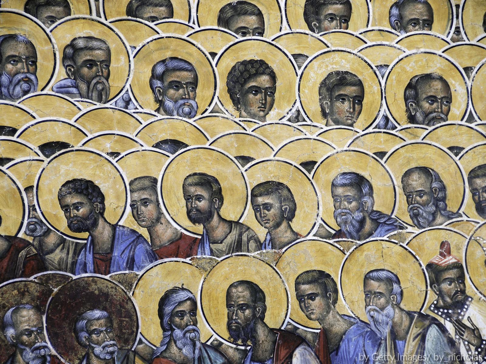 Formação contínua de catequistas ensinar sobre os santos da Igreja