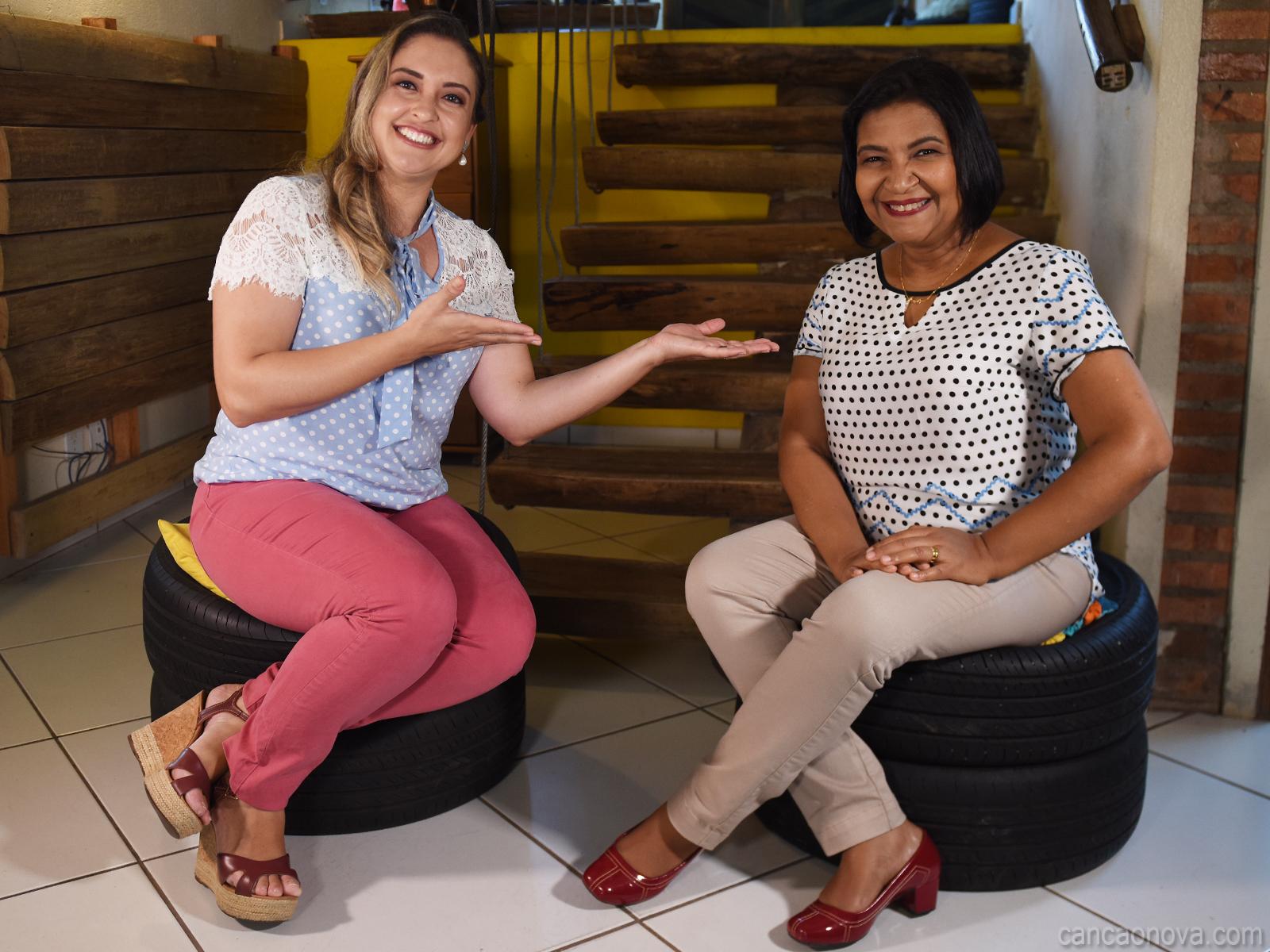 Salette Ferreira falando sobre maternidade e trabalho