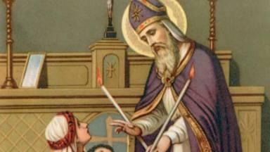 A bênção de São Brás sobre a garganta