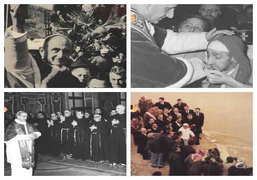 Momentos peregrinação Paulo VI Terra Santa