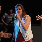 Ricardo Sá, Adriana Arydes e Ziza Fernandes se encontram no palco neste sábado