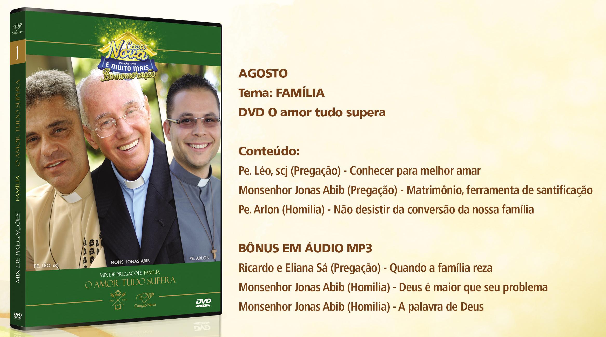 Dvd Agosto Casa Nova Canção Nova