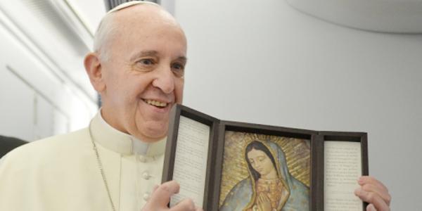 Papa Francisco celebra Nossa Senhora de Guadalupe