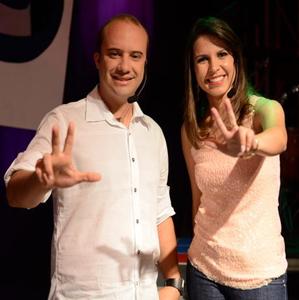 Adriano Gonçalves e Fernanda Soares