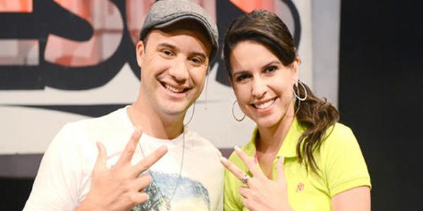 Adriano Gonçalves e Fernanda Soares.