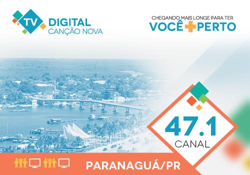 Paranaguá sintoniza o sinal digital da TV Canção Nova