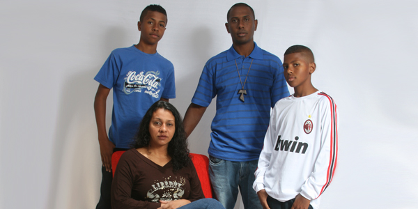 Gilberto e sua família