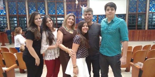 Mauricio e sua família