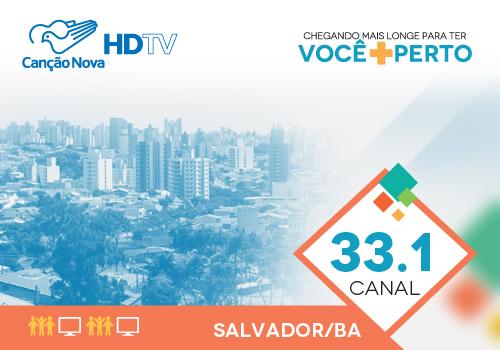Sinal digital da TV Canção Nova em Salvador (BA)