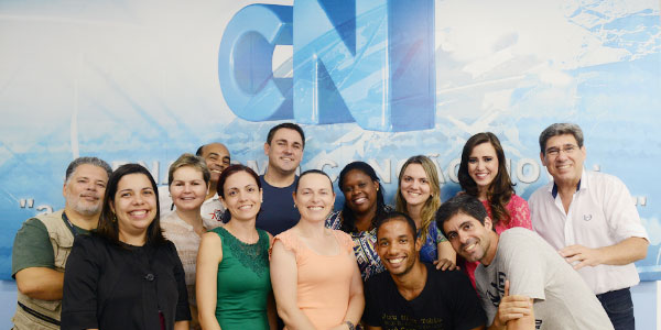 Equipe do telejornal CN Notícias-foto: Wesley Almeida/cancaonova.com