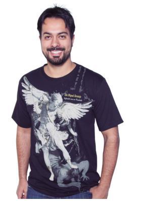 Camiseta São Miguel Arcanjo - Defendei-nos no Combate