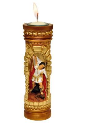 Vela esculpida São Miguel Arcanjo