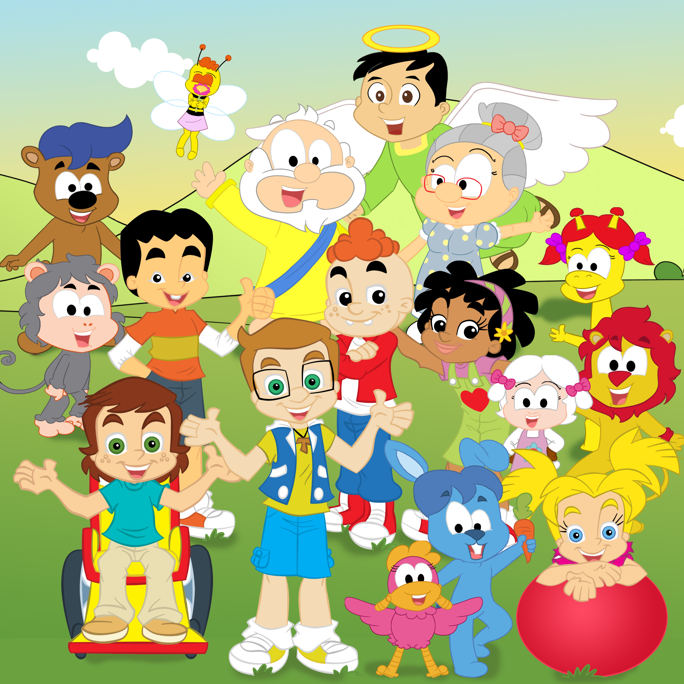 Personagens Juntos - Site Kids
