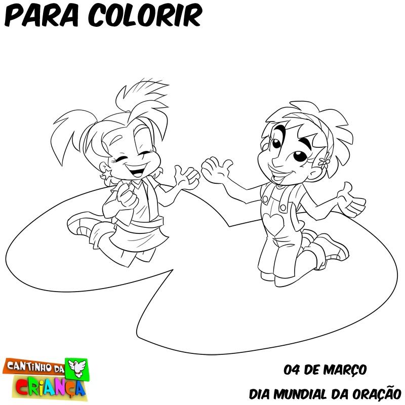 Vamos Colorir No Dia Mundial Da Oracao Cancao Nova Kids