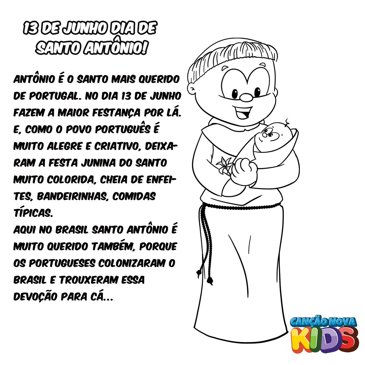 13 06 Colorir De Santo Antonio Cancao Nova Kids