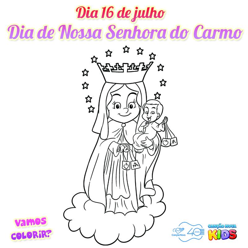 16-07 Colorir Nossa Senhora do Carmo