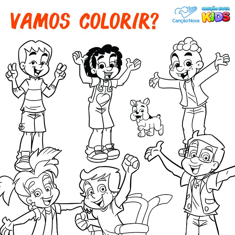 10-12 Colorir da Turminha