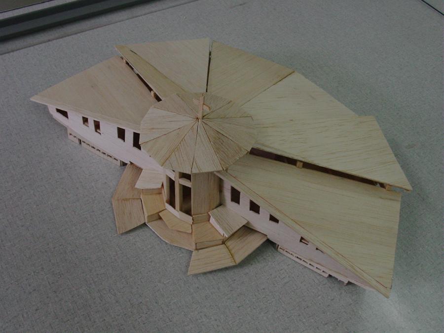 Primeira maquete do projeto do Santuário do Pai das Misericórdias