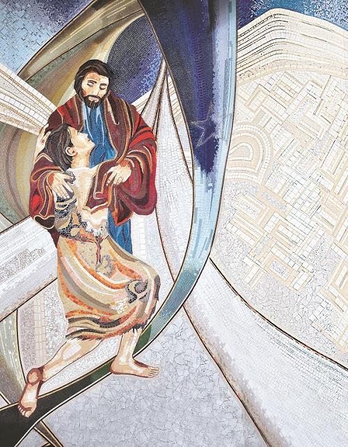 Mosaico do Pai das Misericórdis (Foto: Wesley Almeida/cancaonova.com)
