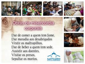 obras de misericordia corporais - Santuario