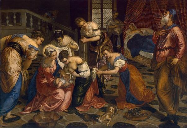 """""""O Nascimento de São João Batista"""" de Jacopo Robusti Tintoretto"""