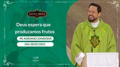 Deus espera que produzamos frutos - Padre Adriano Zandoná  (28/05/2021)