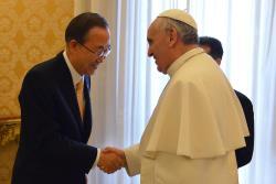 Francisco receberá o secretário geral da ONU