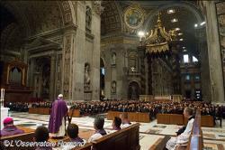 Papa celebra Missa para parlamentares italianos