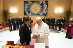 Francisco recebe presidente do Paraguai