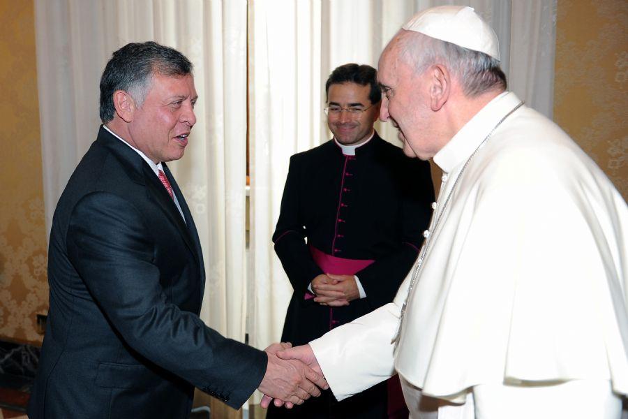 Papa recebe rei da Jordânia