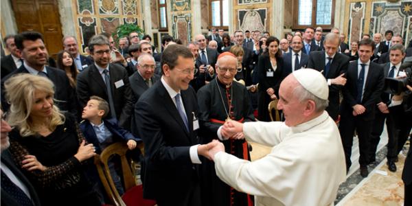 Papa Francisco recebe em audiência prefeitos italianos