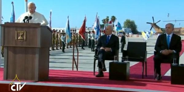 discurso papa em israel