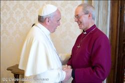 francisco e arcebispo anglicano