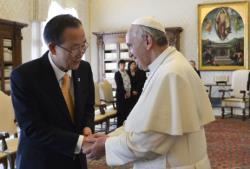 Papa pede aos líderes da ONU respeito pela dignidade humana