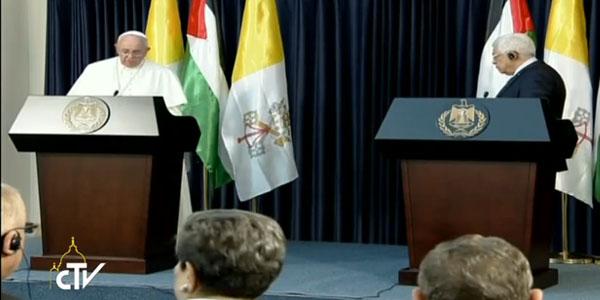 papa_encontro com autoridades palestinas