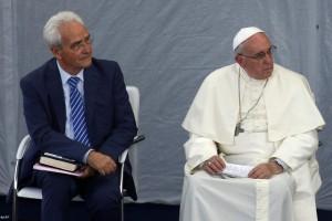 Papa visita pastor