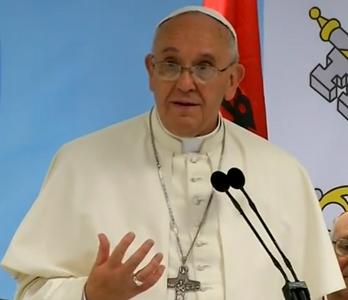 Papa enfatizou que é um sacrilégio matar em nome de Deus / Foto: Reprodução CTV