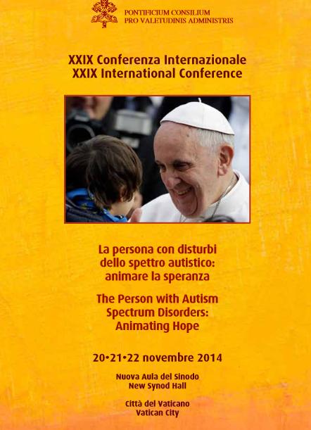 Cartaz da Conferência sobre autismo que será realizada no Vaticano / Foto: Divulgação
