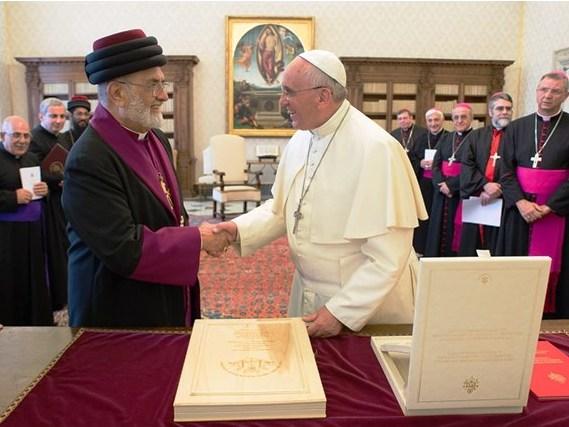 Papa Francisco recebeu em audiência o Patriarca da Igreja Assíria do Oriente, Mar Dinkha IV / Foto: Agência Ecclesia