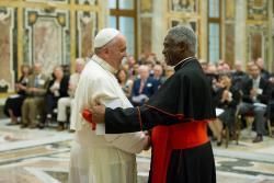 Papa e o Cardeal Peter Turkson / Foto: Rádio Vaticano